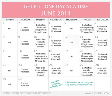 printable exercise program for beginners daily beginner workout plan for june workout plans