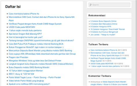 membuat daftar isi yg mudah cara mudah membuat daftar isi pada blog wordpress blog