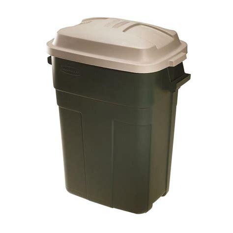 rubbermaid roughneck trash container  gal rectangular