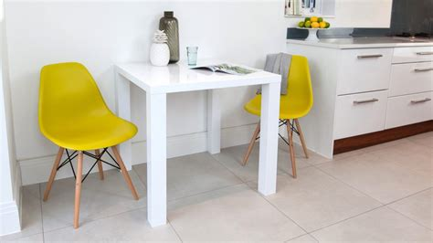 small high kitchen table modern square white high gloss table 4 seater uk