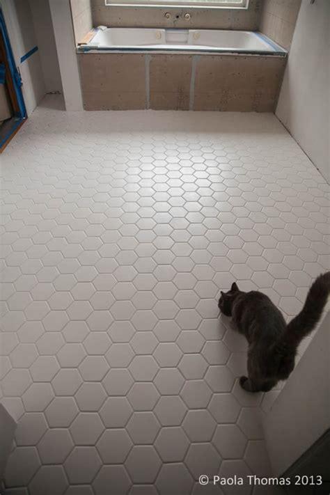 Hex Bathroom Floor Tile by Hexagon Tiles