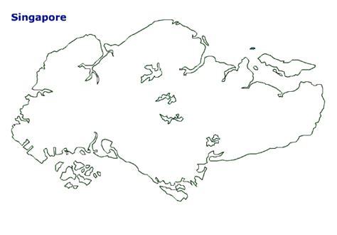 singapore map terrain area  outline maps  singapore