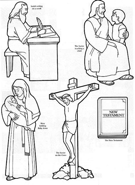 lds coloring pages of the savior isaiah prophesies of the savior before christ history