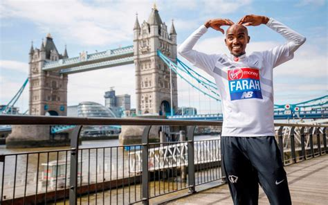 theme music london marathon mo farah breaks british record with third place london