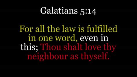 Thy As Thyself by For All The Is Fulfilled In One Word Even In This