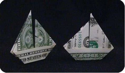 Money Origami Boat - boat dollar bill origami boat