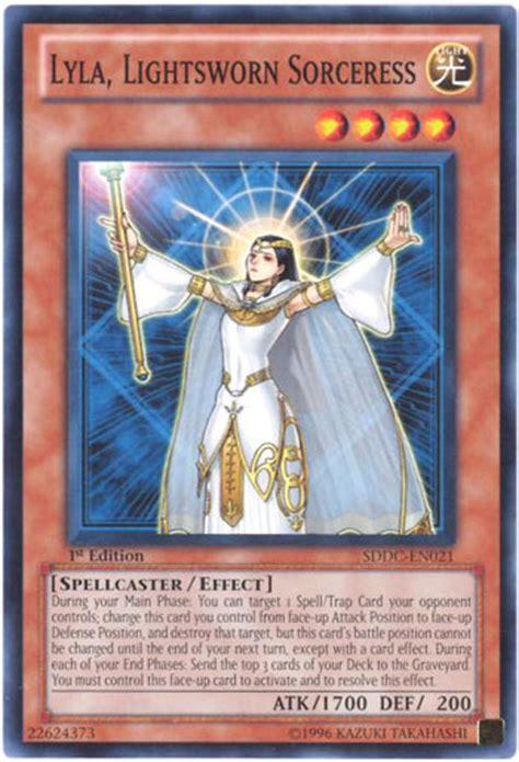 Kartu Yugioh Raiden Of The Lightsworn Common yu gi oh card sddc en021 lyla lightsworn sorceress common bbtoystore toys plush