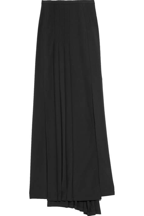 pilotto auro pleated stretch crepe maxi skirt in