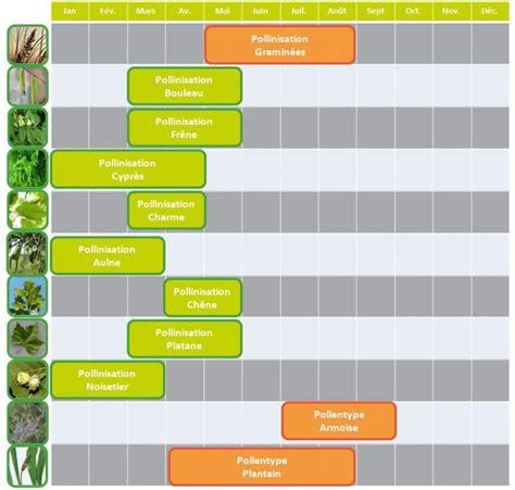Calendrier Des Pollens Allergies Printani 232 Res Le Calendrier Des Pollens Et Des