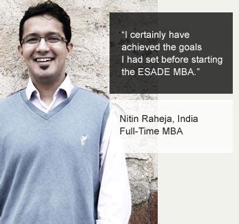 The Esade Mba by The Esade Mba Experience Esade Event Visits New Delhi