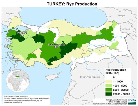 middle east  turkey crop production maps