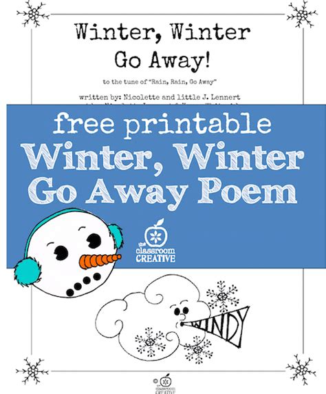 10 Words That Need To Go Away by Free End Of Winter Poem For Sight Word And Fluency