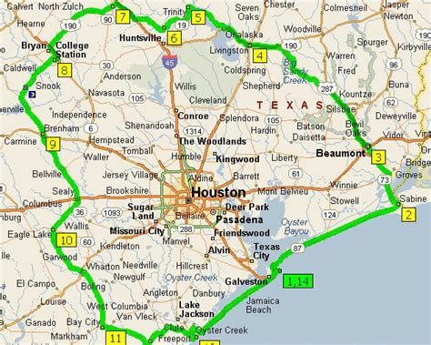 houston texas suburbs map houston area map