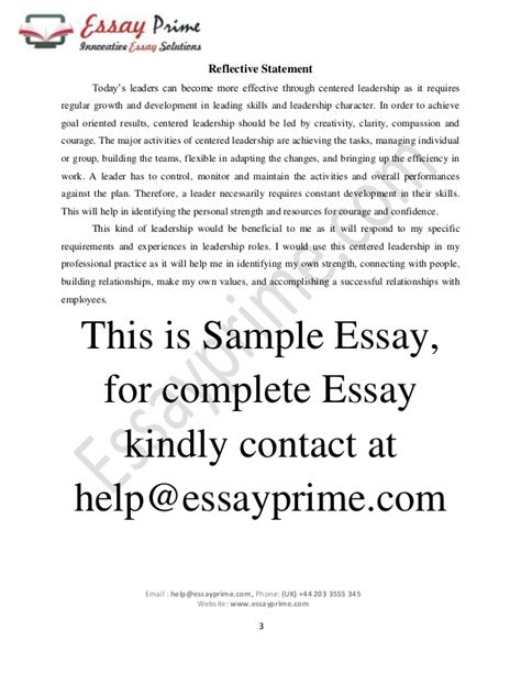 leadership essays sles help with custom reflective essay on hacking