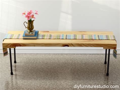 diy coffee table pipe legs rustic modern coffee table or bench with plumbing pipe