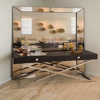mirror behind console table design ideas