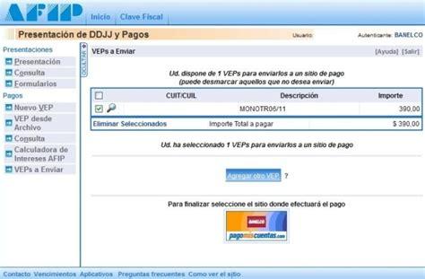 pago izzi online pagar monotributo por internet online mediante vep y cur m