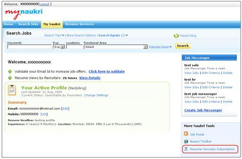 naukri paid resume services naukri paid resume