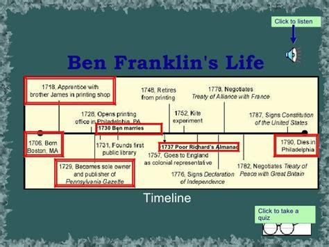 benjamin franklin biography and contributions benjamin franklin powerpoint