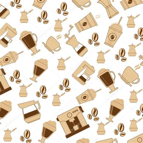wallpaper with coffee theme coffee theme wallpaper icon stock vector 169 jemastock