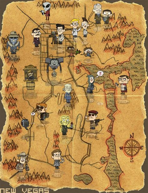new vegas map fallout new vegas map is not to scale but fit for a poster