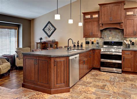 remodeled kitchen features cliqstudios carlton painted