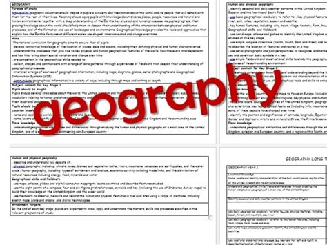 geography objectives ks2 geography year group objectives curriculum 2014