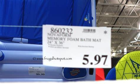 Memory Foam Bath Rug Costco by Costco Deal Novaform Memory Foam Bath Mat Frugal Hotspot
