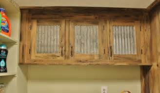 Rustic Cabinet Doors Rustic Upper Cabinet Reclaimed Barn Wood W Tin Doors