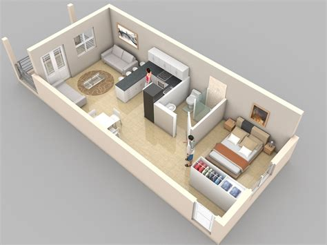 studio apartment 3d floor plans studio apartment floor plans home decor and design