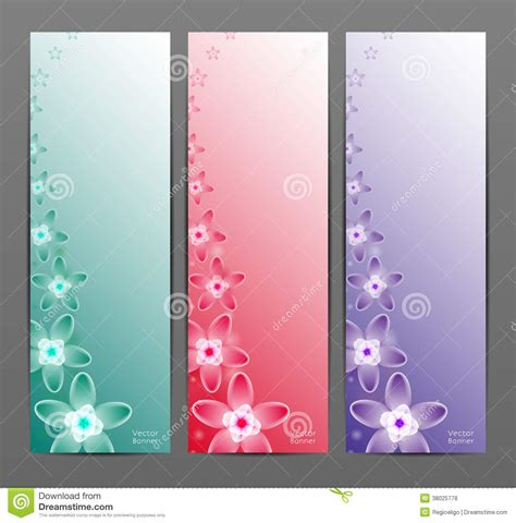 Abstract Flower Vector Background / Brochure Template