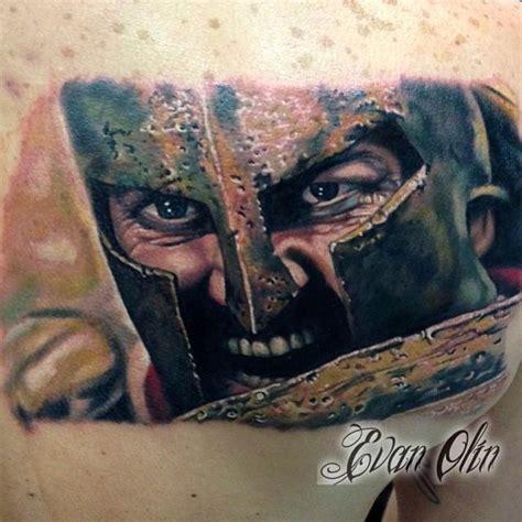 leonidas tattoo powerline tattoos evan olin color