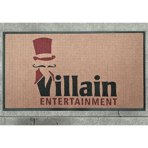 custom waterhog tm inlay logo mat fashion borders