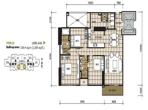 Appartment Floor Plans floor plan ksl d esplanade residence condominium johor
