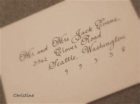 Wedding Envelope Addressing Etiquette for Outer Envelope