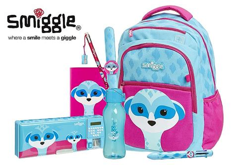 Smiggle Yay Fold Away Backpack Blue what s on 4 school back to school northwest