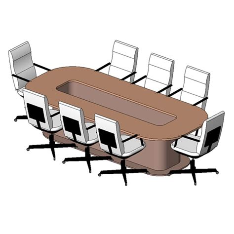 Revit Conference Table Table Conference 8 Seater 2 Free 3d Model Rfa Cgtrader