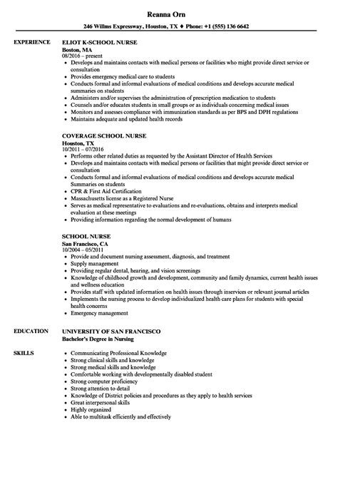 Nursing School Resume Template by Nursing Resume Exle Resume Template Sle