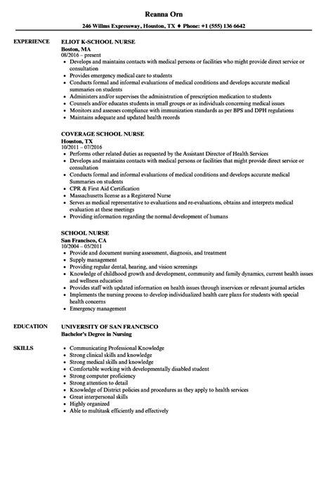 Nursing Resume Exle Resume Template Sle Nursing School Resume Template