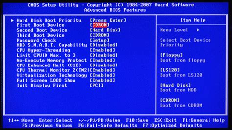 how format hard disk from bios loading operating system boot from cd dvd