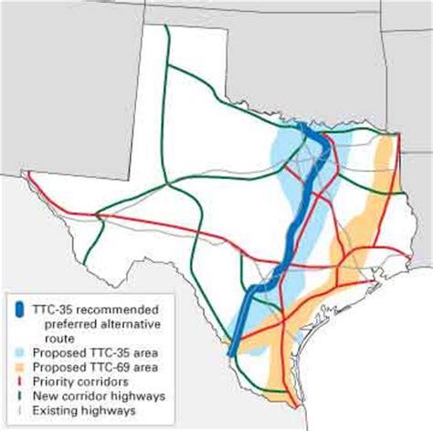 trans texas corridor map trans texas corridor