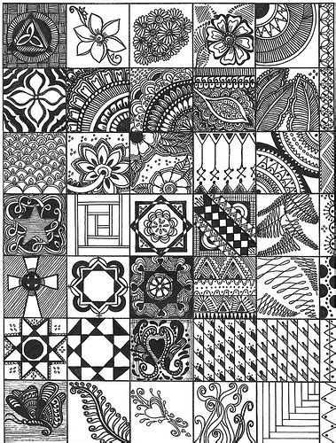 zentangle pattern drawing as meditation inspirational doodle art zentangles tangled and tangle