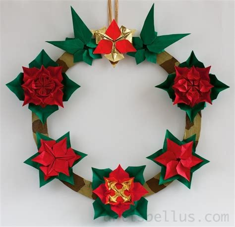 Origami Wreath Ornament - 17 best images about origami kerst on