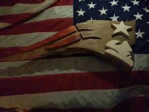 hand  wood  england patriot logo art  derek