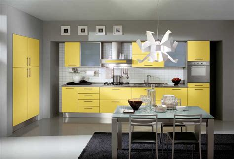 yellow kitchen dark cabinets modern yellow kitchen design with unique chandelier and