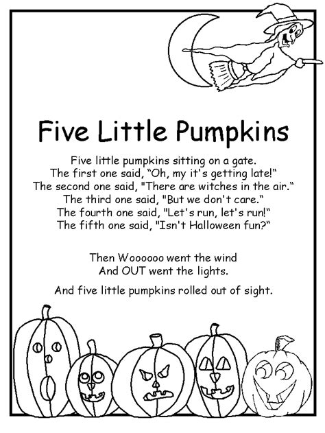 five little pumpkins poem love this used to sing it at a