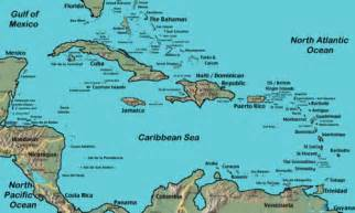 map of the caribbean islands and south america map of the caribbean and south america