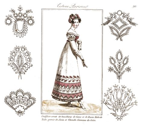 fashion illustration embroidery more vintage embroidery patterns with fashion illustrations the graffical muse