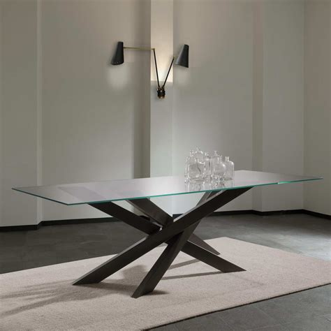 tavolo da pranzo in cristallo tavolo in cristallo tavoli legno e vetro allungabili epierre