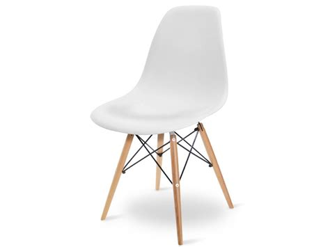 chaise dsw charles et eames blanc mobilier designer